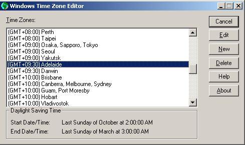 Windows 2003 timezone update netstat help windows