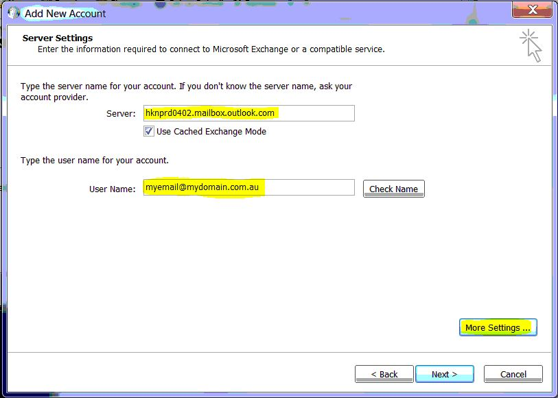 How to manually configure Outlook 2010 for Office 365 | PowerBiz