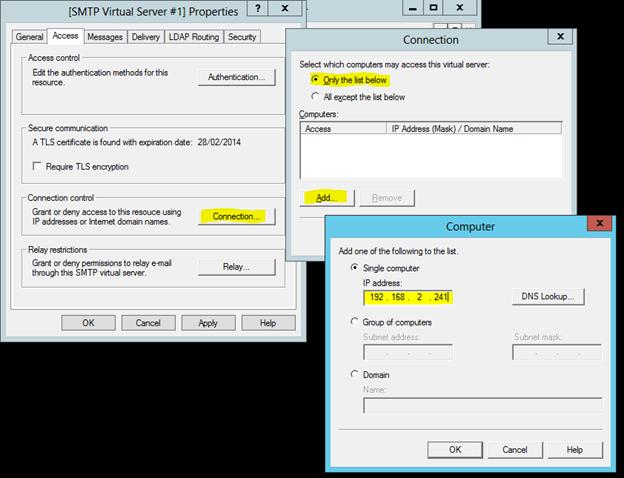 How to set up an Internal SMTP Service for Windows Server