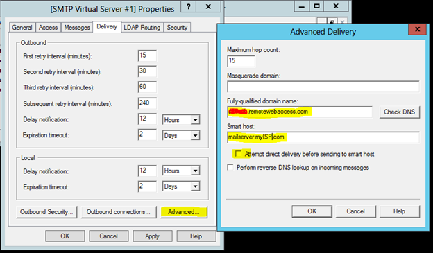 How to set up an Internal SMTP Service for Windows Server 2012