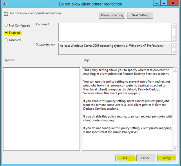 How to Turn off Printer Redirection for Remote Desktop