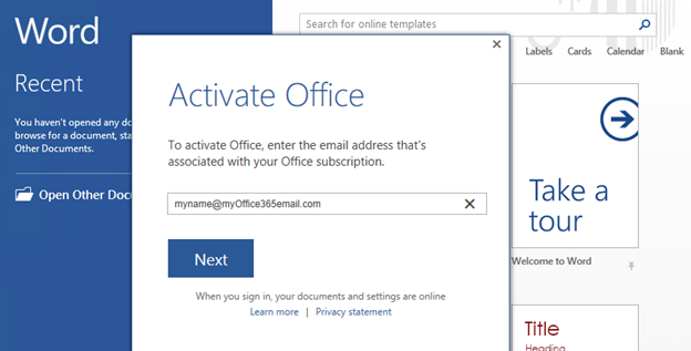 office 365 pro plus activation failed